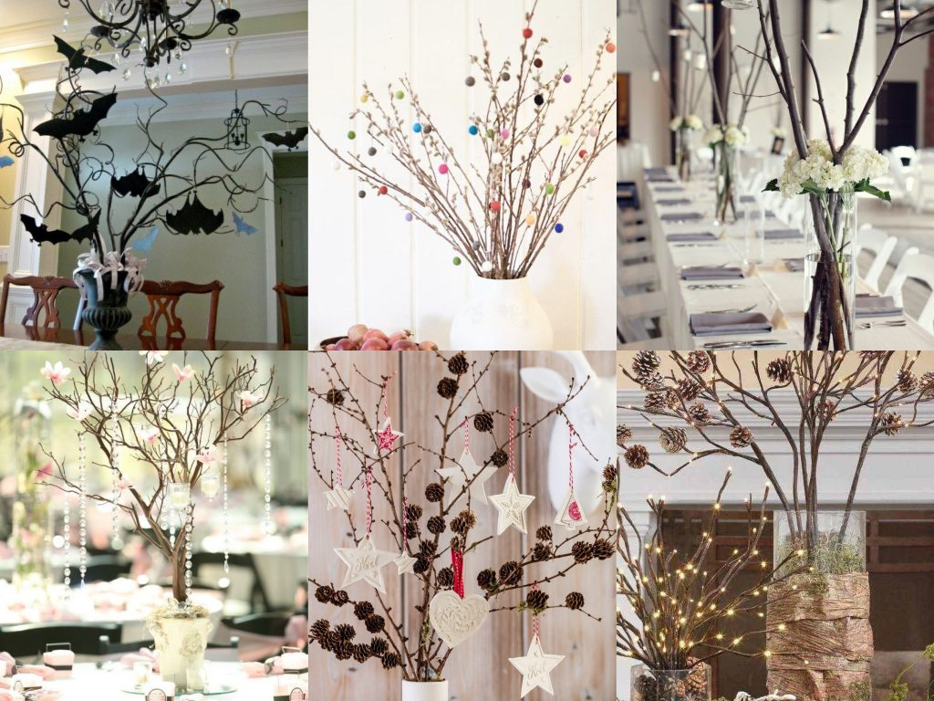 décoration de table naturelle
